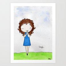 Laugh 2 Art Print