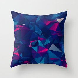 Faceted Shatter Throw Pillow
