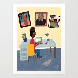 The Three Muses Art Print