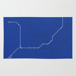 London Underground Piccadilly Line Route Tube Map Rug