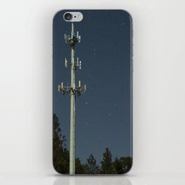 Transmissions in the dead of the night iPhone Skin