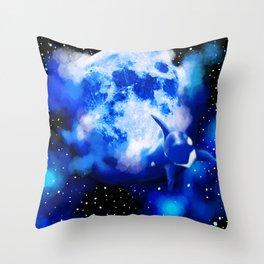 Orca Moon Throw Pillow