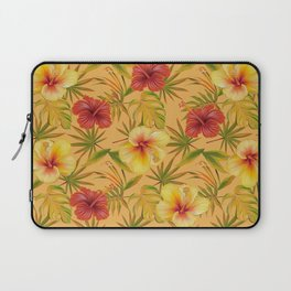 Leave And Flowers Pattern Laptop Sleeve