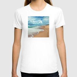 Walking Along the Beach Leaving Sandy Footprints T-shirt