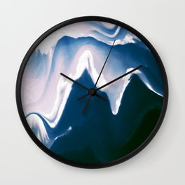 Distorted Mountains III Wall Clock