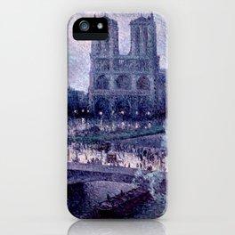 """Maximilien Luce """"Notre Dame de Paris"""" (1) iPhone Case"""