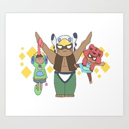 Leon, Nita and Bo cute design | Brawl Stars Art Print