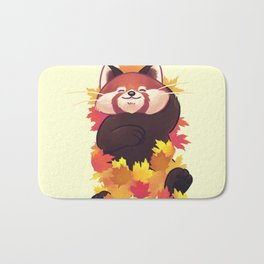 Relaxing Red Panda Bath Mat