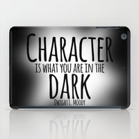 dwight schrute iPad Cases featuring Who We Are In The Dark by Jesse G.