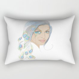 Peacock Rai Rectangular Pillow