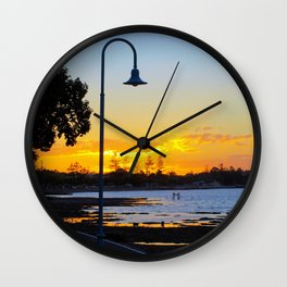 Wynnum Sunset Wall Clock