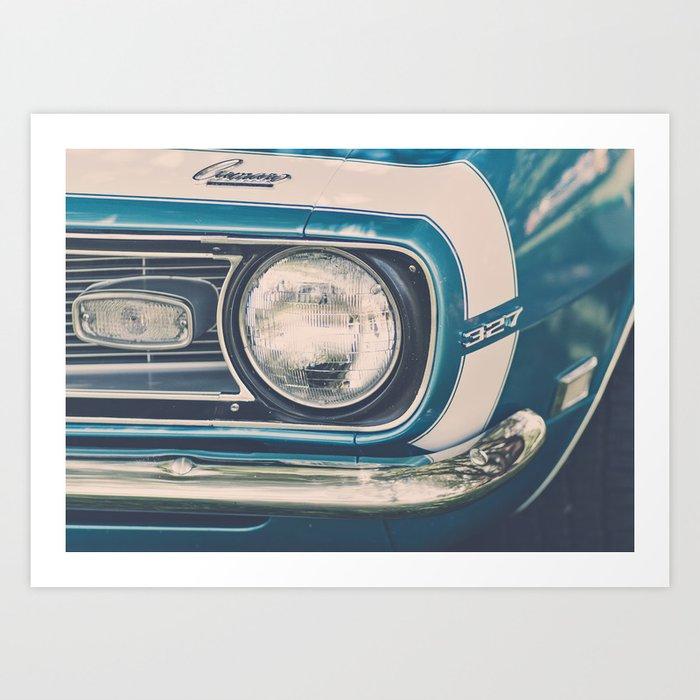 Blue Classic Camaro Art Print