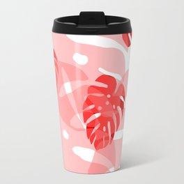 red monstera Travel Mug