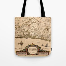 Map Of Bordeaux 1633 Tote Bag
