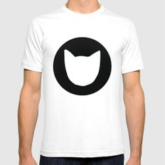 Cat! 2.0 White Mens Fitted Tee SMALL