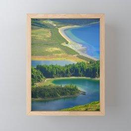 Colorful lake Framed Mini Art Print