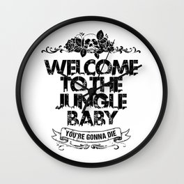 Welcome to the Jungle Wall Clock