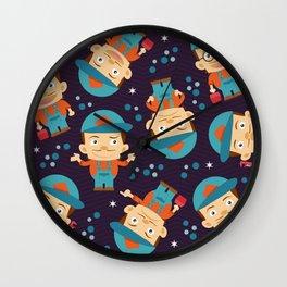 Plumber Pattern Wall Clock