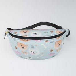 Yato Pups Shiro blue theme Fanny Pack