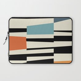 MCC Oddities I - Mid Century Modern Geometric Abstract - Blue Orange Yellow Laptop Sleeve