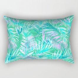 Green palm leafs Rectangular Pillow