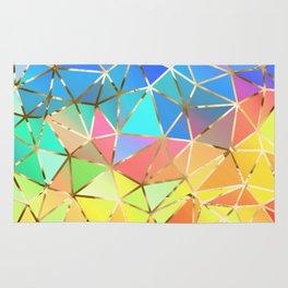 Rainbow geometric #10 Rug