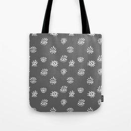 Funky Eyes - Gray  Tote Bag