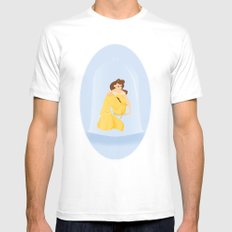 Belle - Beauty & The Beast Mens Fitted Tee MEDIUM White