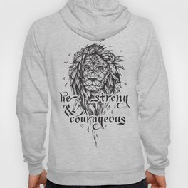 Be Strong & Courageous, Geometric Lion Hoody