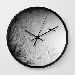 Black bird sky Wall Clock
