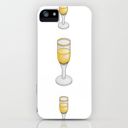 Wine-glasses with champagne iPhone Case