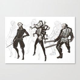 MGR Bones Canvas Print