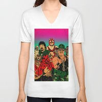 old school V-neck T-shirts featuring OLD SCHOOL by alexis ziritt