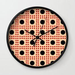 new polka dot 8 - ceramic colors Wall Clock