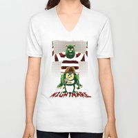 nightmare V-neck T-shirts featuring Nightmare by le.duc
