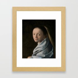 Study of a Young Woman Framed Art Print