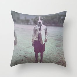 Beagle Boy Throw Pillow