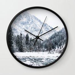 Winter landscape Wall Clock