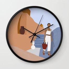 Wanderlust Women Travel Wall Clock