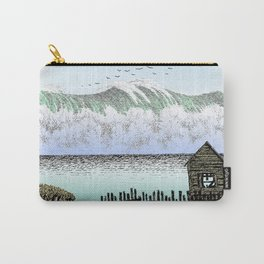 THE BIG WAVE PEN DRAWING COLOR VERSION Carry-All Pouch