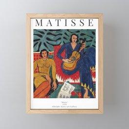 Henri Matisse - Music - Exhibition Poster Framed Mini Art Print