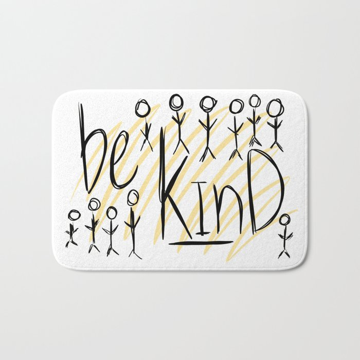 be kind Bath Mat