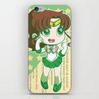 sailor jupiter iPhone & iPod Skins featuring Sailor Jupiter by strawberryquiche