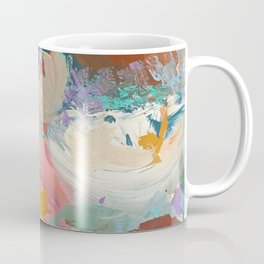 Sweet Nothings: a colorful floral abstract in pinks, reds, blues, and white Coffee Mug