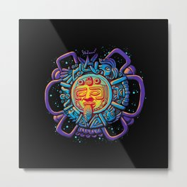 Aztec Sun Metal Print