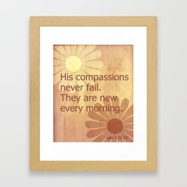 His Compassions Framed Art Print