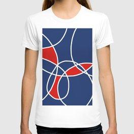 Blue Patchwork T-shirt