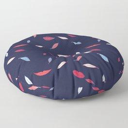 Lips & Leaves Floor Pillow