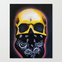 gangster Canvas Prints featuring Gangster Skull  by GIlbert G909