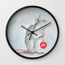 Chritmas rat Wall Clock